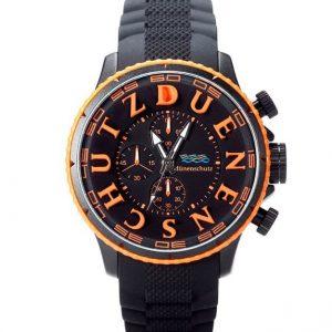 Dünenschutz - Produkt - Uhr schwarz/orange