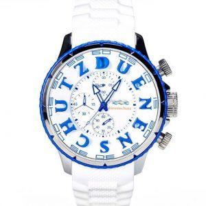 Dünenschutz - Produkt - Uhr weiss/blau