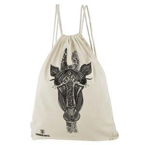Dünenschutz - Produkt - Turnbeutel Giraffe - weiss