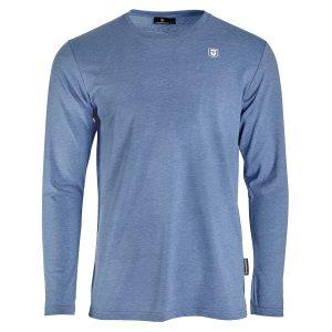 Dünenschutz - Produkt - Herren - T-Shirt Longsleeve - blau - vorne