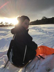 Dünenschutz - Winter - Turnbeutel Feder
