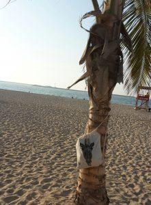 Dünenschutz - Turnbeutel Giraffe - Strand - Dubai