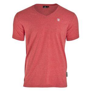Dünenschutz - Produkt - Herren - T-Shirt V-Neck - red marl - vorne