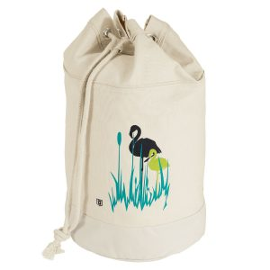 Dünenschutz - Produkt - Seesack Flamingo - vorne - natur